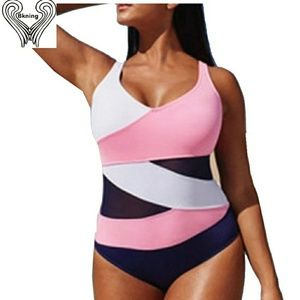 Other - Pink white and black monikini swimsuit